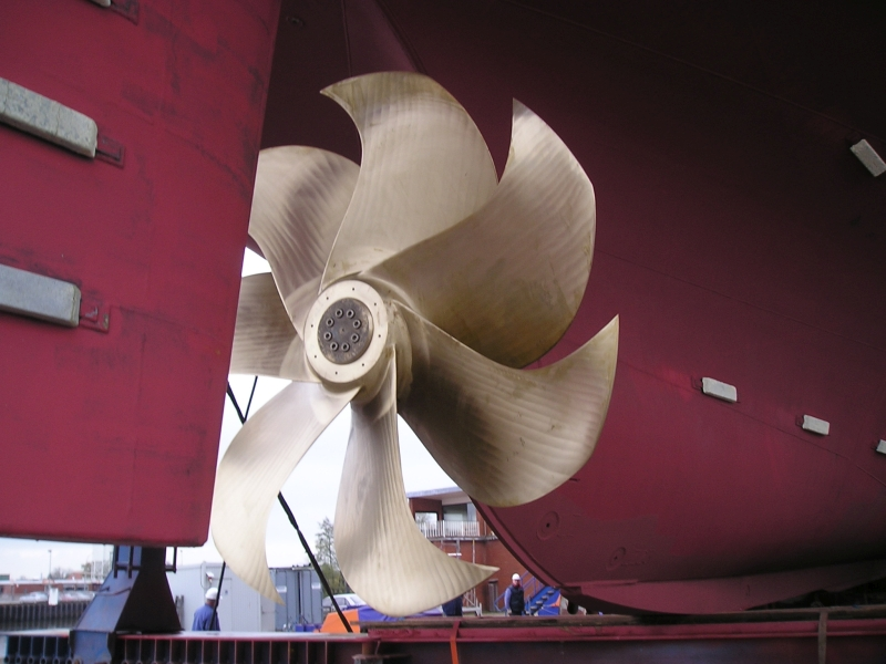 Propeller des Forschungsschiffes Solea
