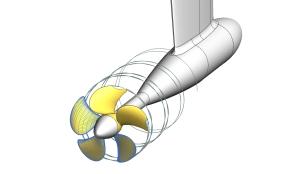 Berechnung Schiffsumströmung Nachstromfeldes Propellerentwurf Propulsionssystemen Kennwerte (Freifahrt, Kavitationseinsatz, Kavitationsverhalten, hydrodynamische Kräfte und Momente, induzierte Druckschwankungen) Optimierungsberechnungen mit potenzialtheoretischen und viskosen Verfahren Schiff, Propeller und Ruder mit CFD-Verfahren (Propulsionsprognose) Festigkeitsnachweis