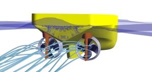 Ruder mit CFD-Verfahren (Propulsionsprognose) Propulsionsversuche (Ein- und Mehrschrauber, Schiffe mit Thrustern, Podded Drives, Düsenpropellern, Voith-Schneider Propellern